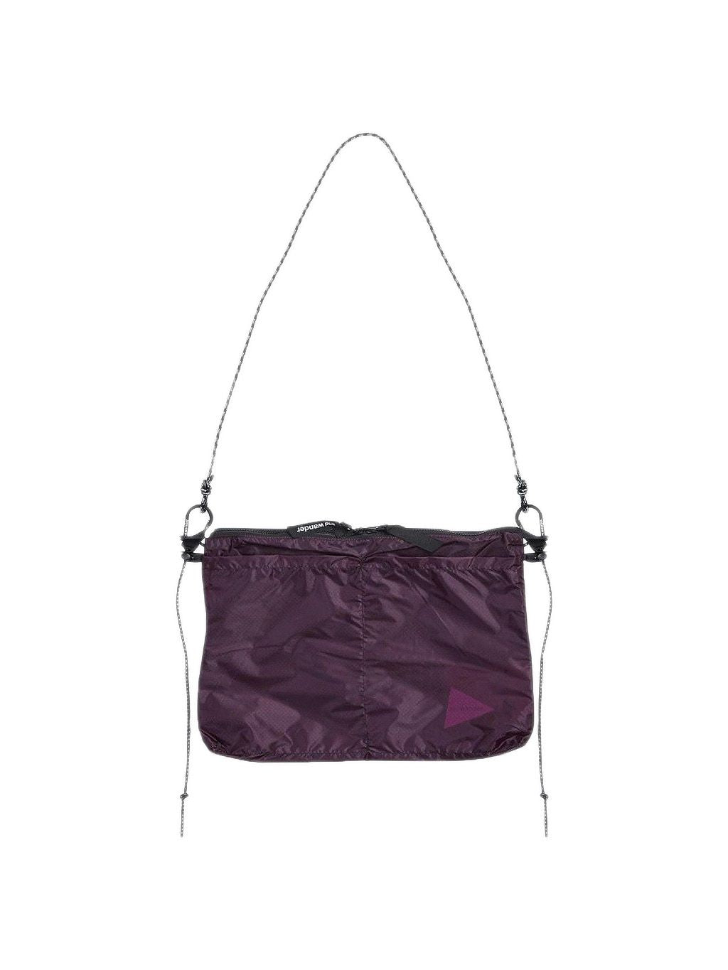 Grey or Purple Sil Sacoche Bag