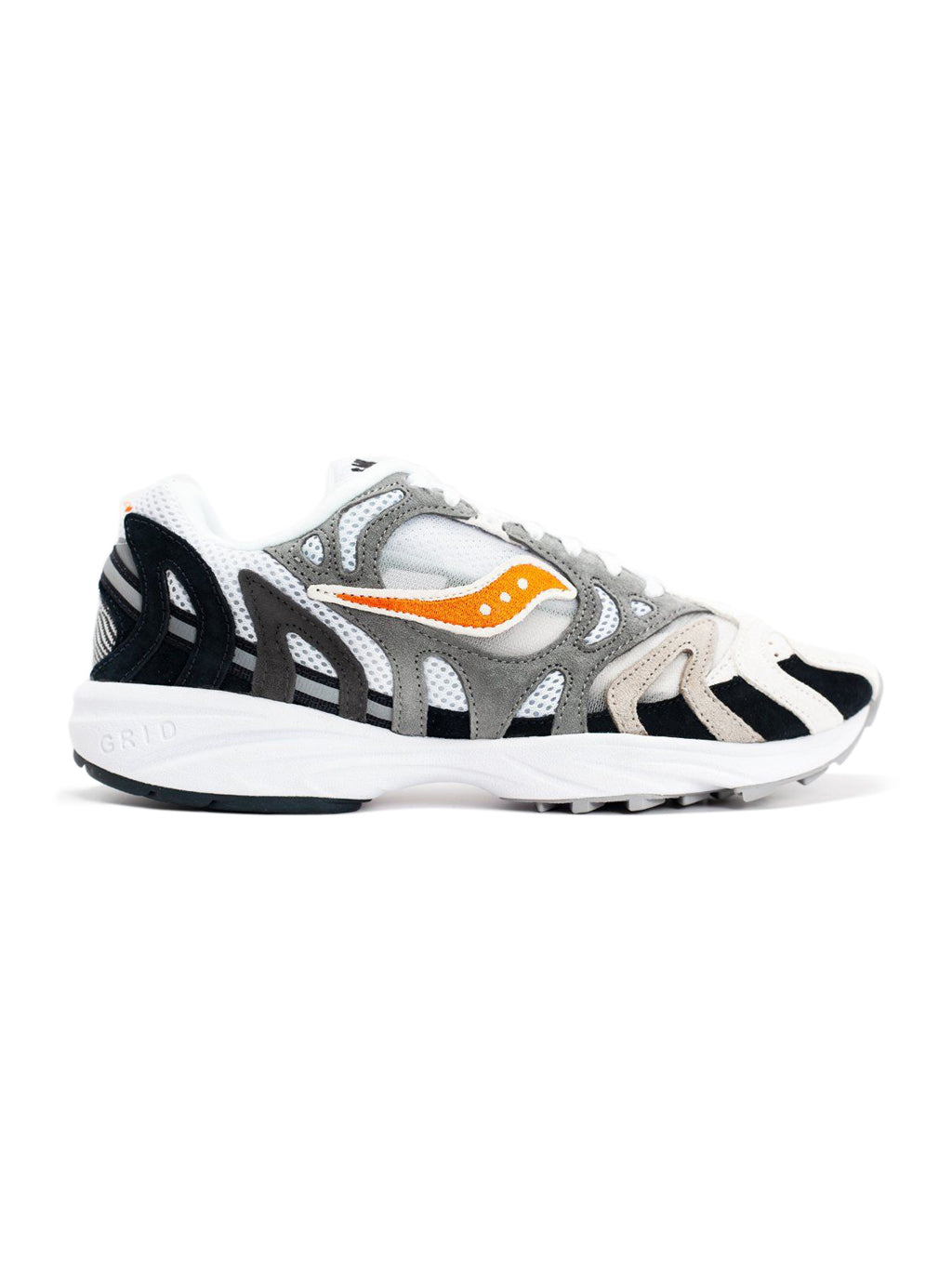 White & Black Grid Azura 2000 Sneakers