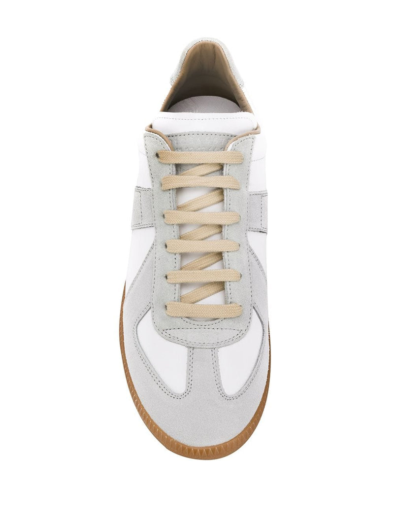White Calfskin Replica Sneakers