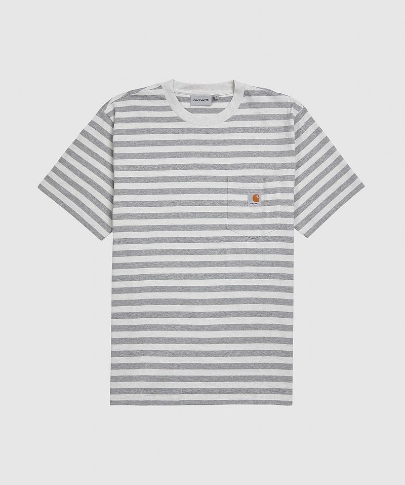 White Scotty Stripe Pocket T-shirt