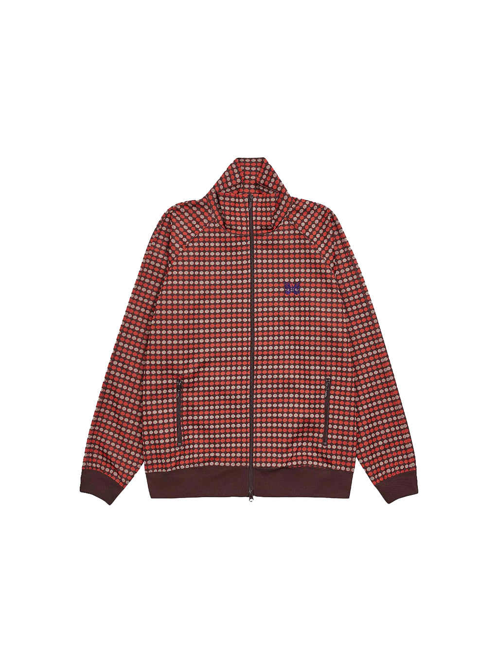 Red Poly Jacquard Track Jacket