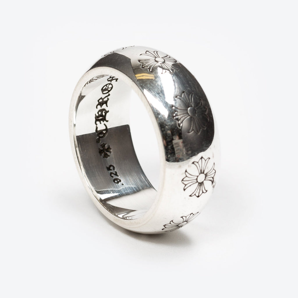 Silver CH Plus Band Ring