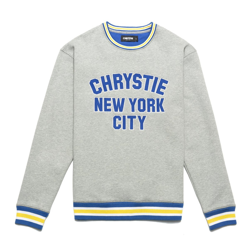 Grey Varsity Logo Crewneck Sweater