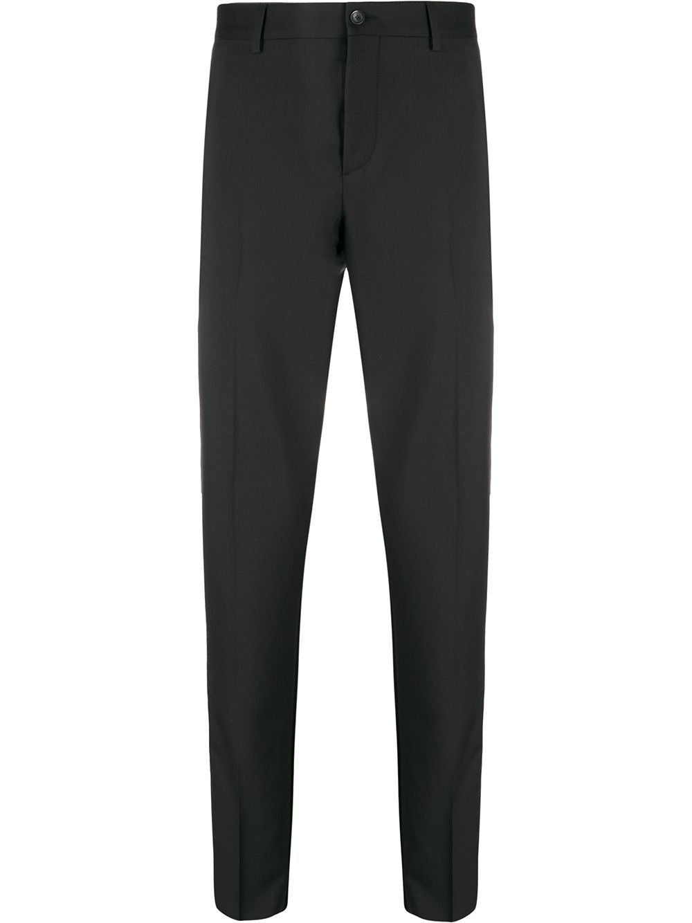Black & White Stripe Panel Tailored Trousers