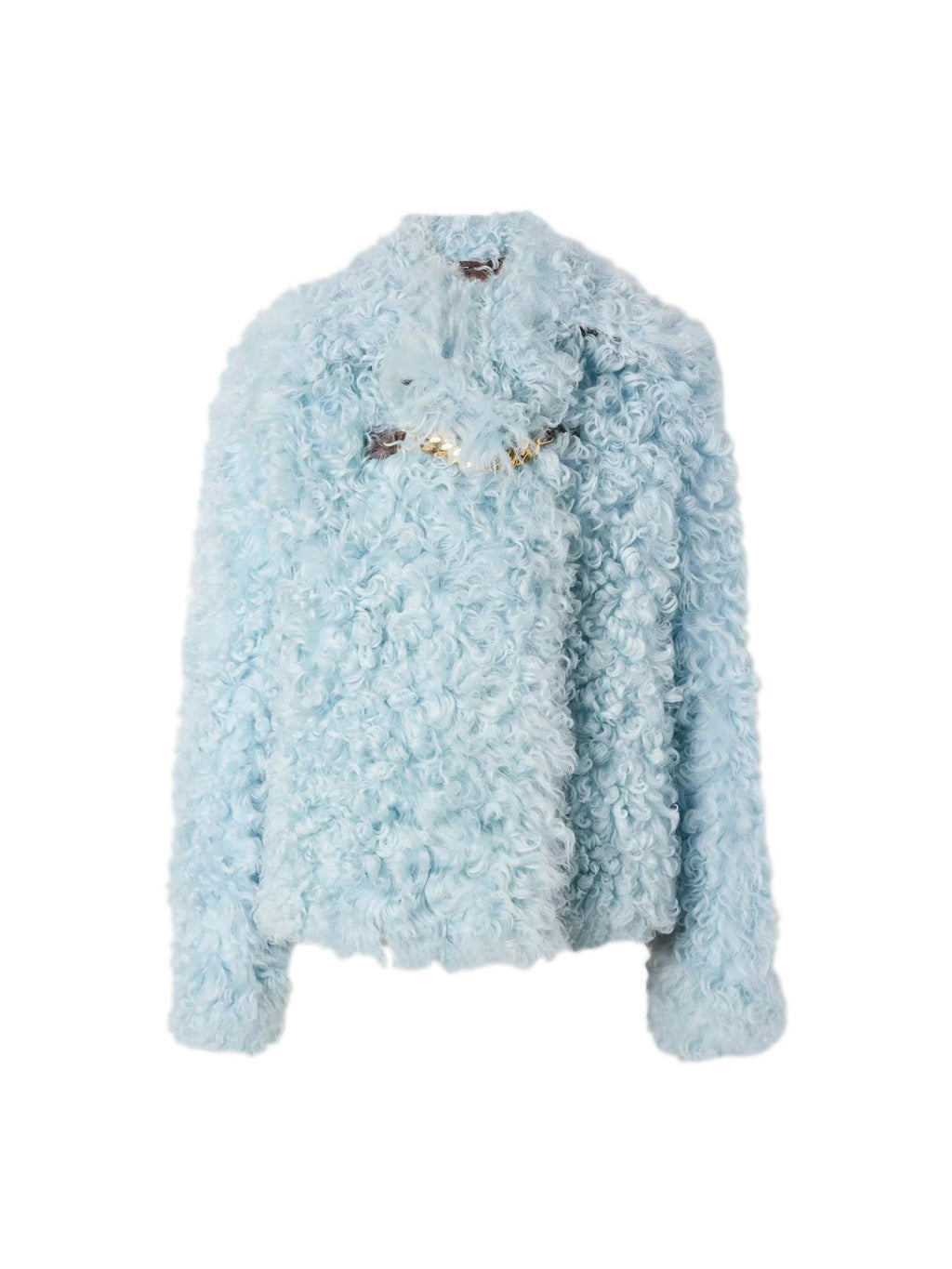 Light Blue Shearling Jacket