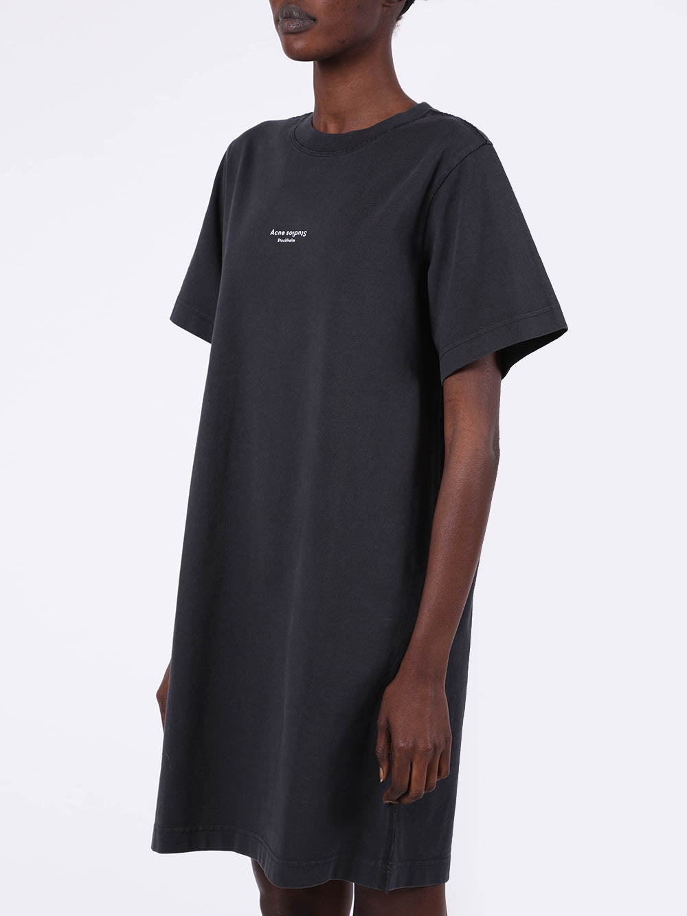 Black Logo T-Shirt Dress
