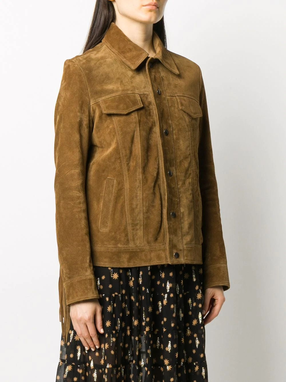 Brown Fringe Suede Leather Jackets