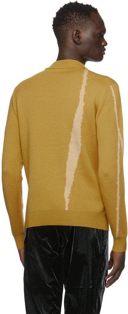 Yellow Terrain Jacquard Knit Sweater