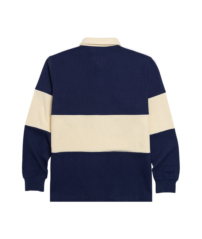 Navy Rugby Long Sleeve Polo