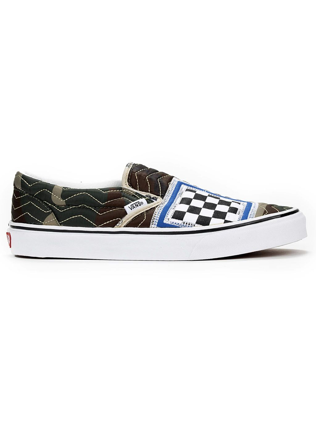 Multi Classic Mixed Quilting Slip On Shoes
