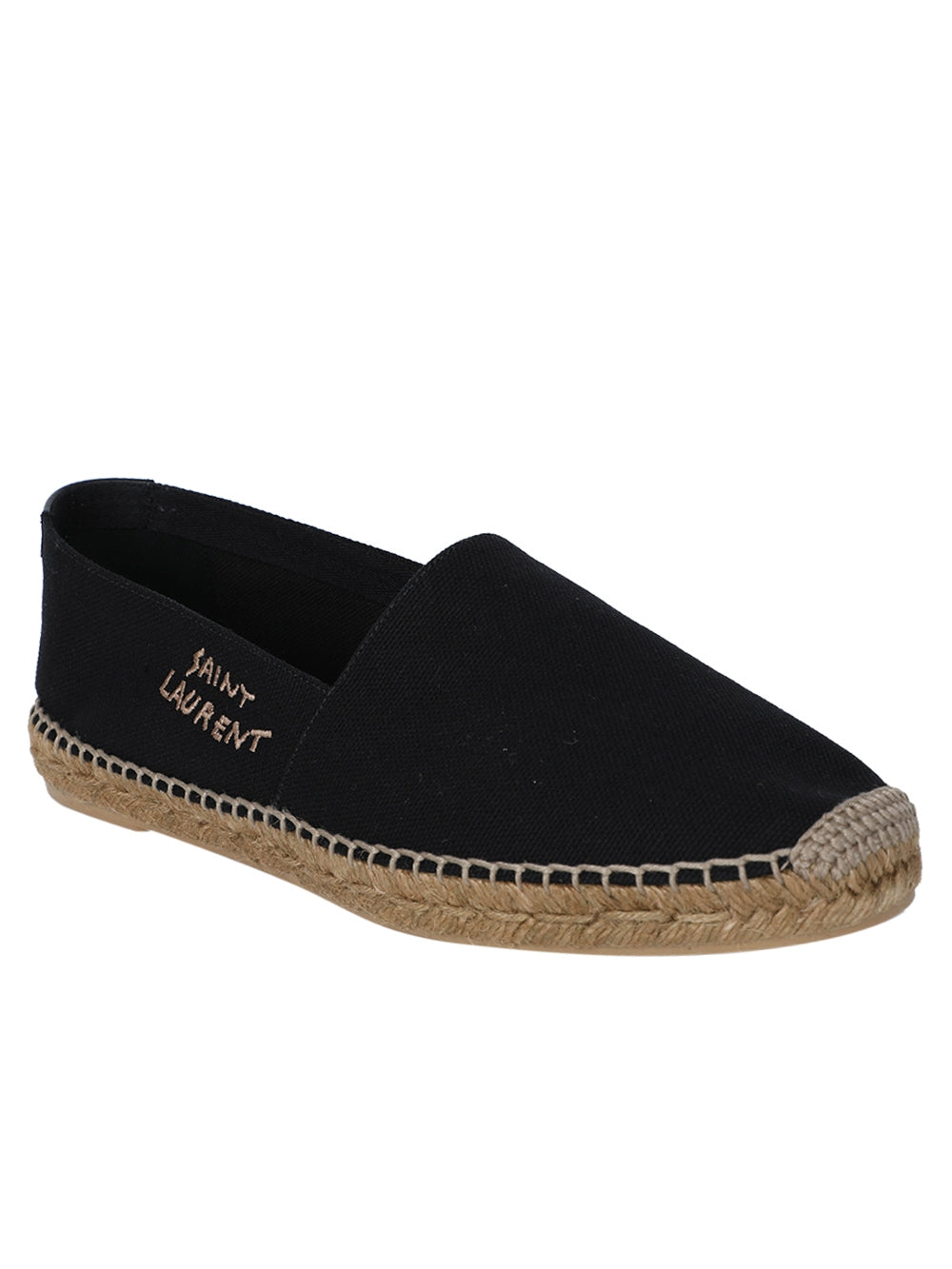 Black Braided-Jute Espadrille Flat Shoes
