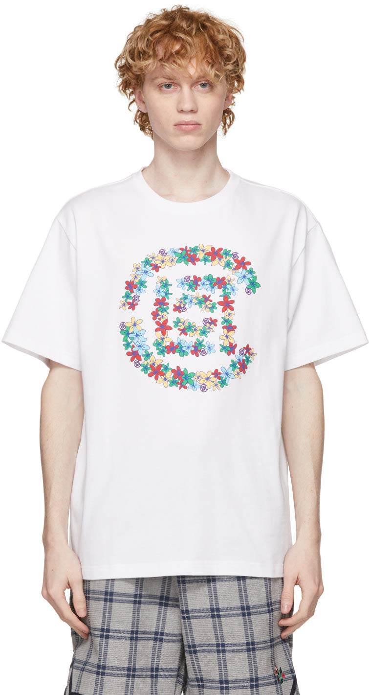 White Flowers Logo T-Shirt