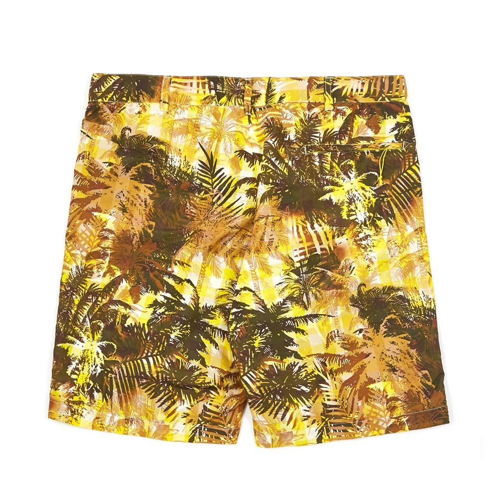 Yellow Tropical Floral Print Sunset Shorts