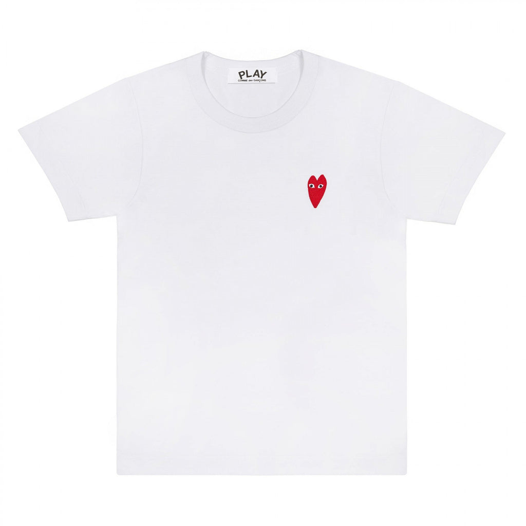 White Long Heart T-Shirt