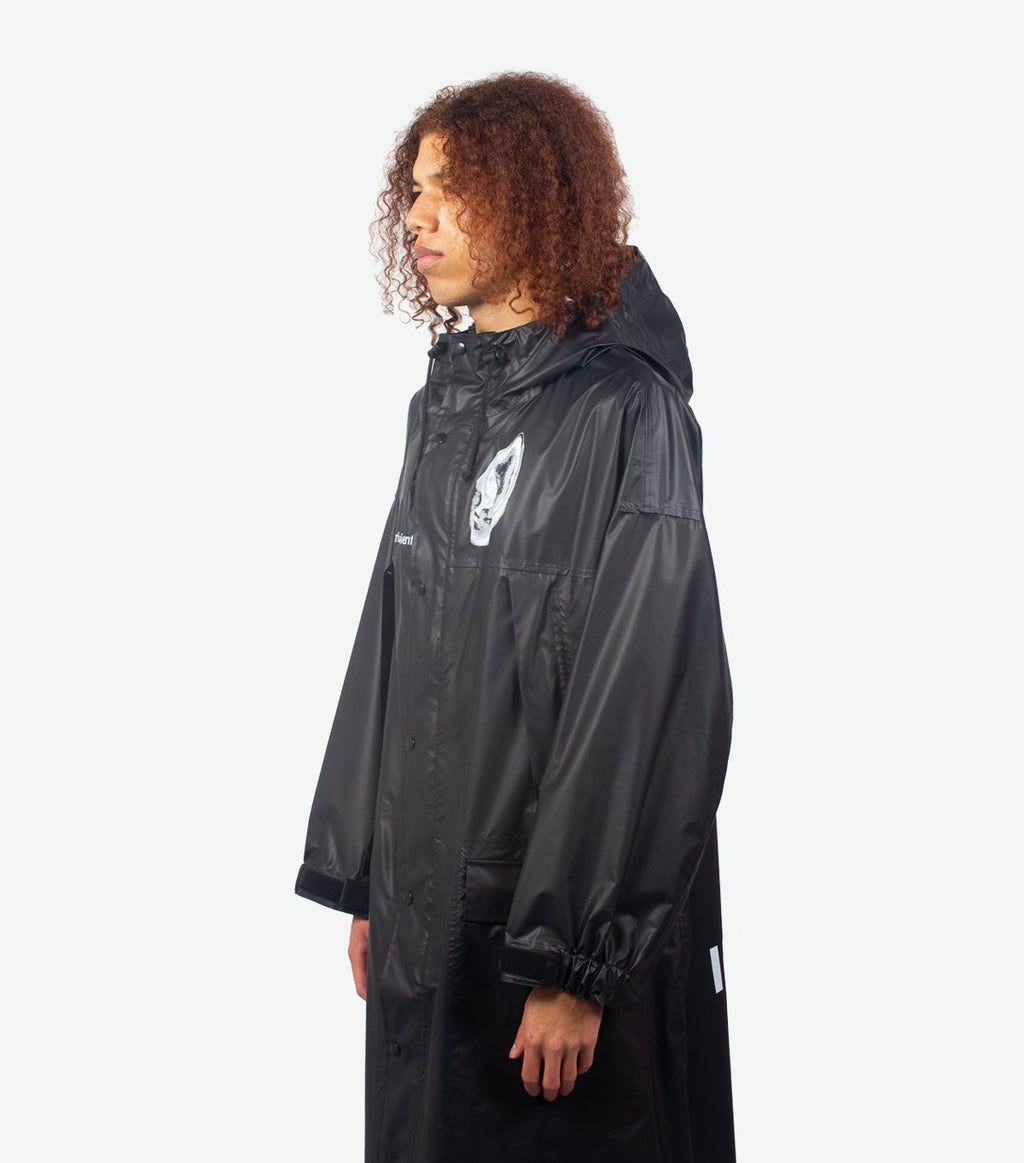 Black Oversized Parka Coats