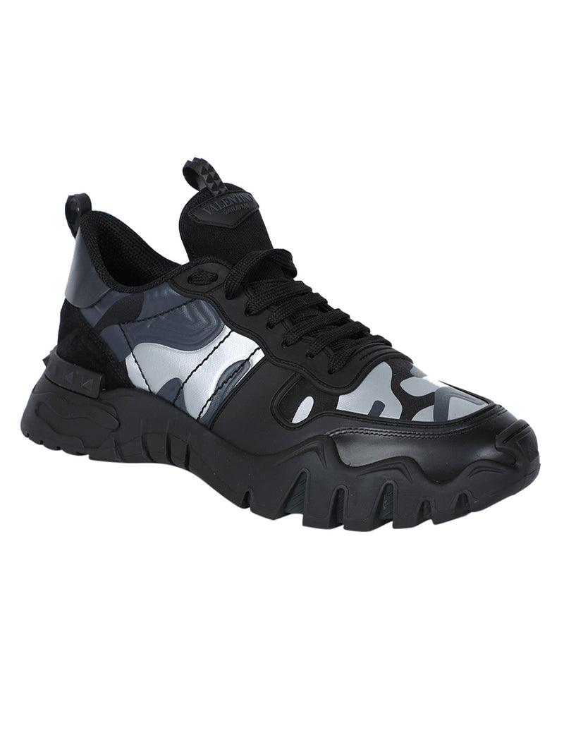 Black Camo Rock Runner Sneakers