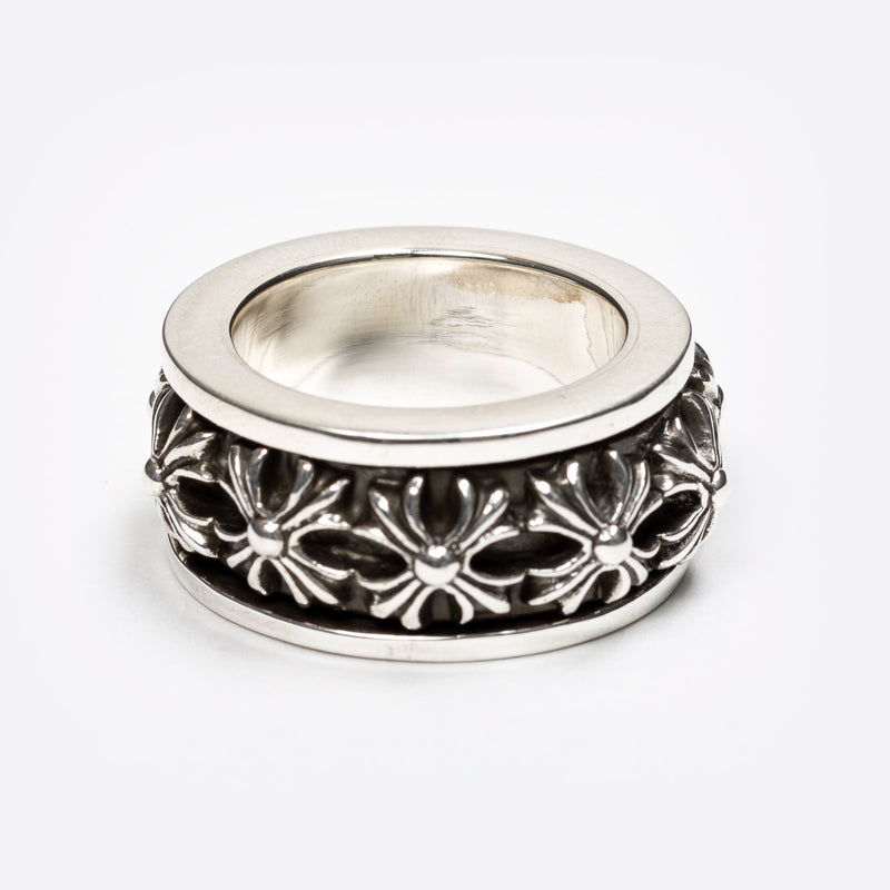 Silver CH Plus Spinner Ring