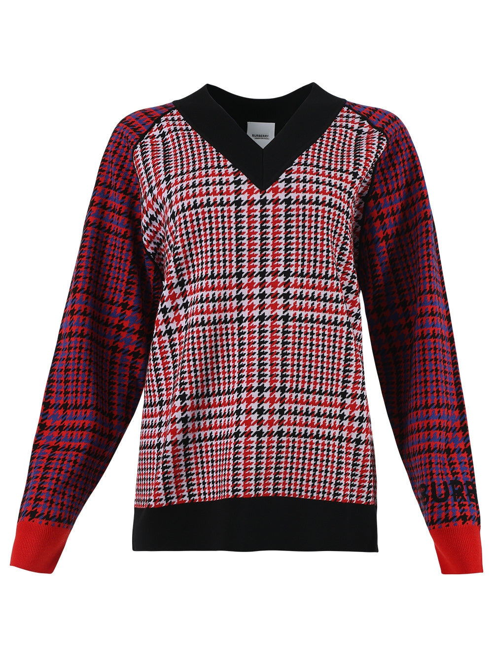 Red Plaid Print Jumper Sweater