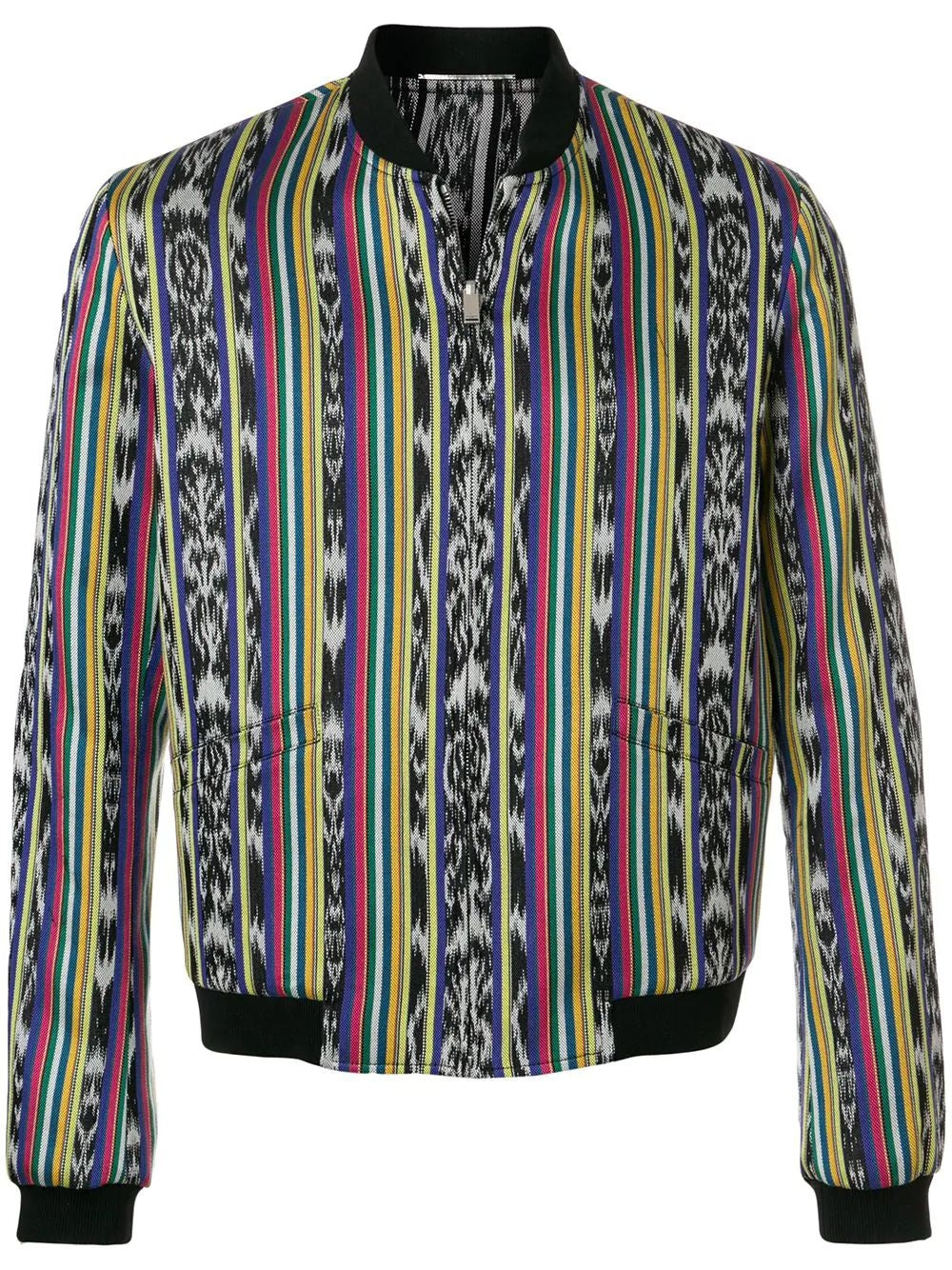 Multicolor Ikat Teddy Reversible Jacket