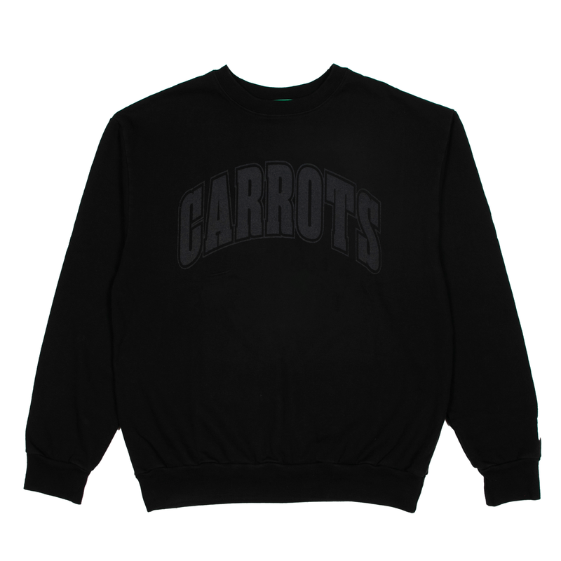 Black Collegiate Logo Sweatshirt