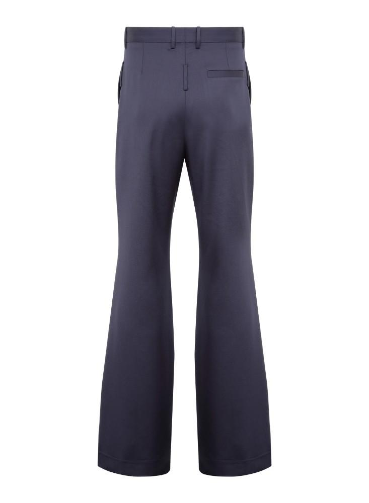 Navy Double Flare Tailored Trousers