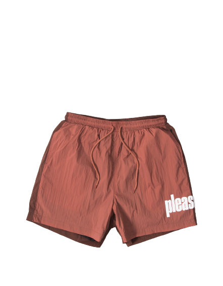 Maroon Electric Active Shorts