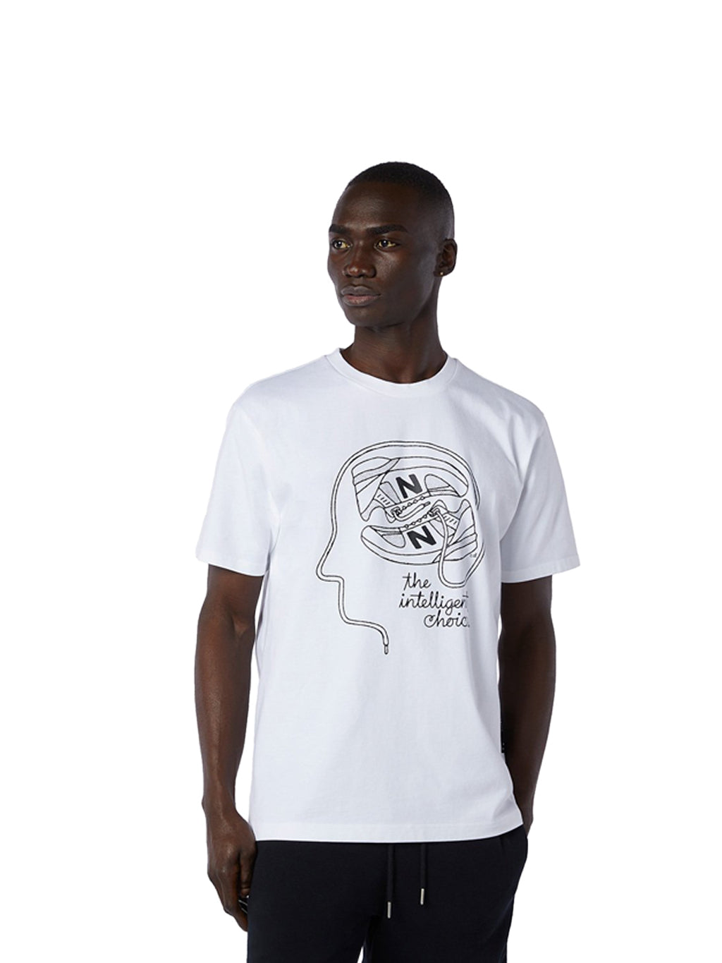 White Delorenzo Shoe Tee