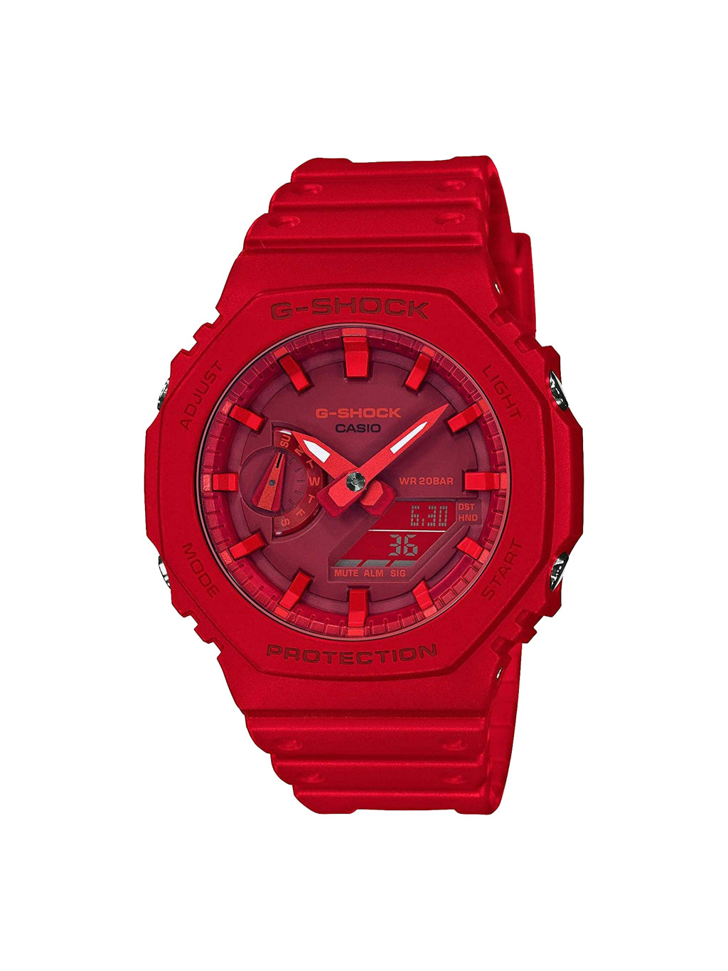 Red Casio G-Shock 2100 Carbon Square  GA2100-4A Watch
