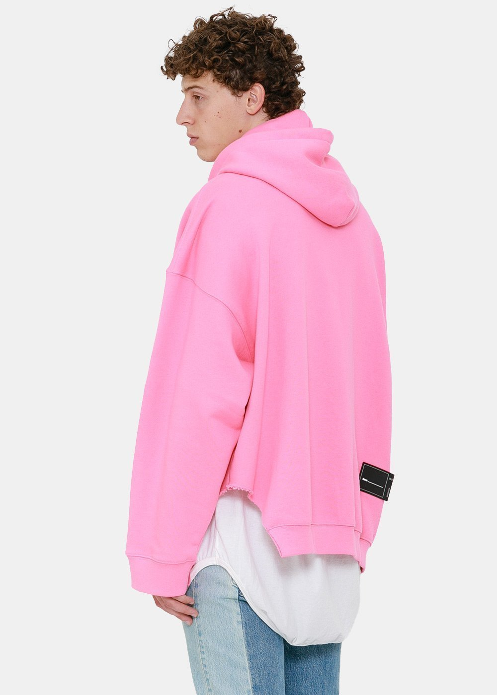 Pink Cut-Out Logo Hoodie