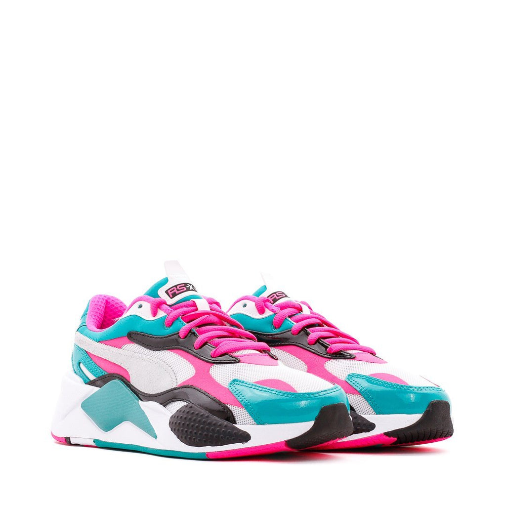White & Pink RS-X³ Sneakers