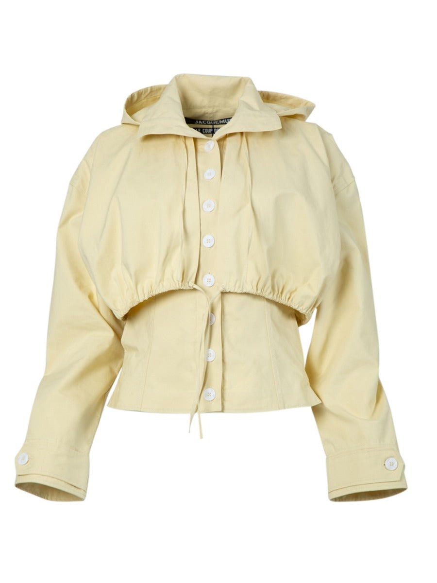 Yellow La Veste Mimosa Hooded Jacket