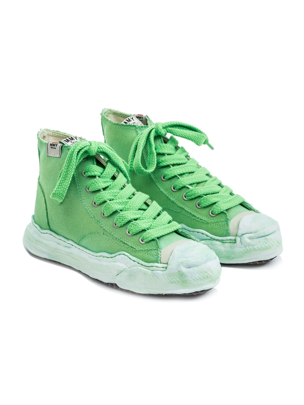Neon Green Original Sole Overdyed Canvas Sneaker (Hank HI)