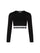 Black Cropped Logo Band Sweatshirt thumbnail 1
