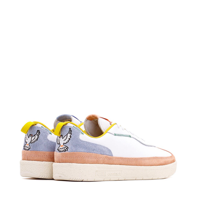 White & Peach Olso-City Sneakers