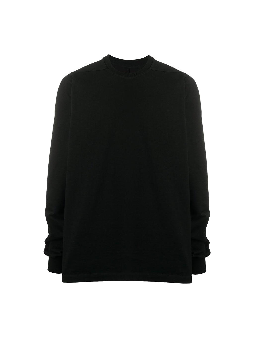 Black Short Crewneck Long Sleeves T-shirt