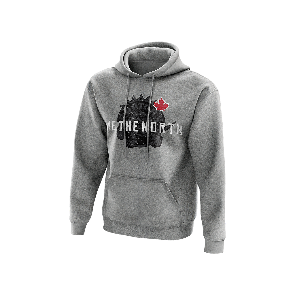 Grey NBA We The North Leafs Playoff Hoodie