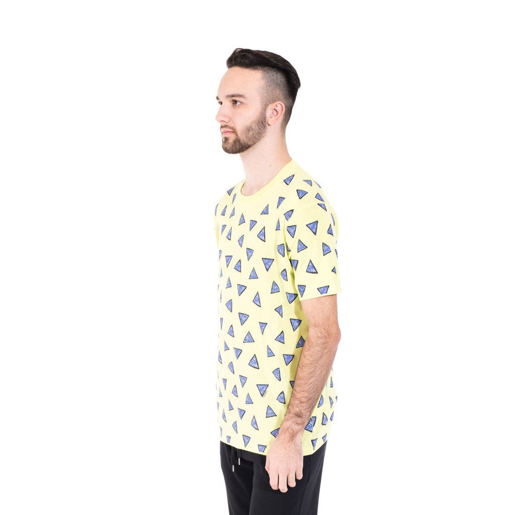 Yellow All Over Triangle T-Shirt