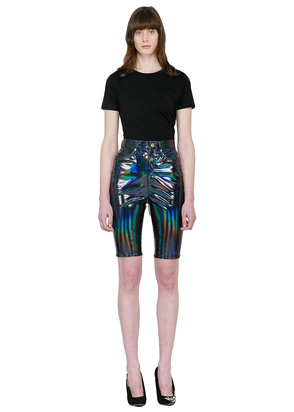 Multi Holoshine Metallic Shorts