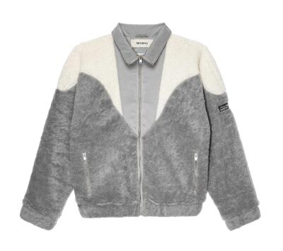 Grey 80's Fleece Jacket