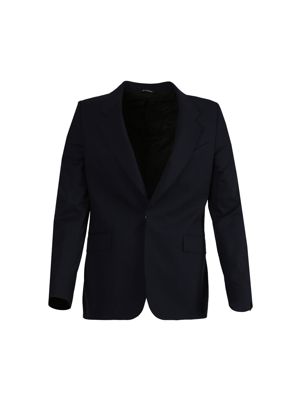 Dark Navy Slim Fit Wool Jacket