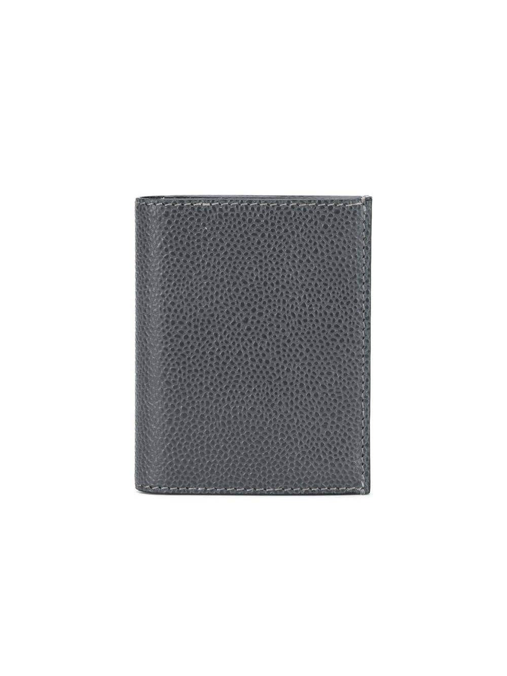 Grey Leather Double Card Holder