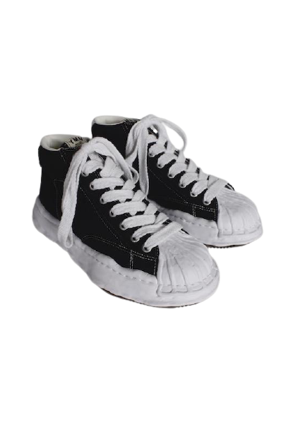 Black Original STC Sole Canvas Hi Top Sneakers