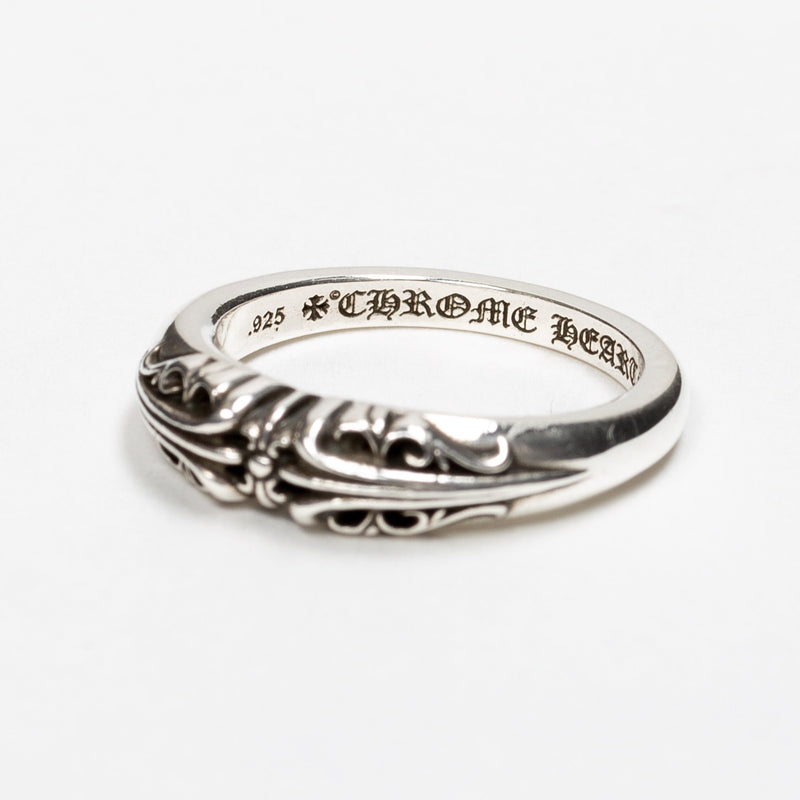 Silver Baby Long Cross KT Ring