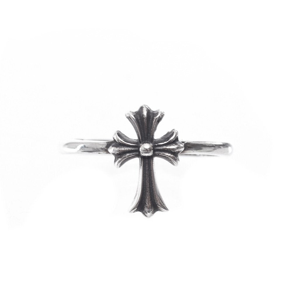 Silver Bubblegum CH Cross Ring