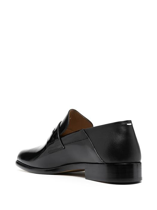 Black Penny Foldable Slip On Loafers