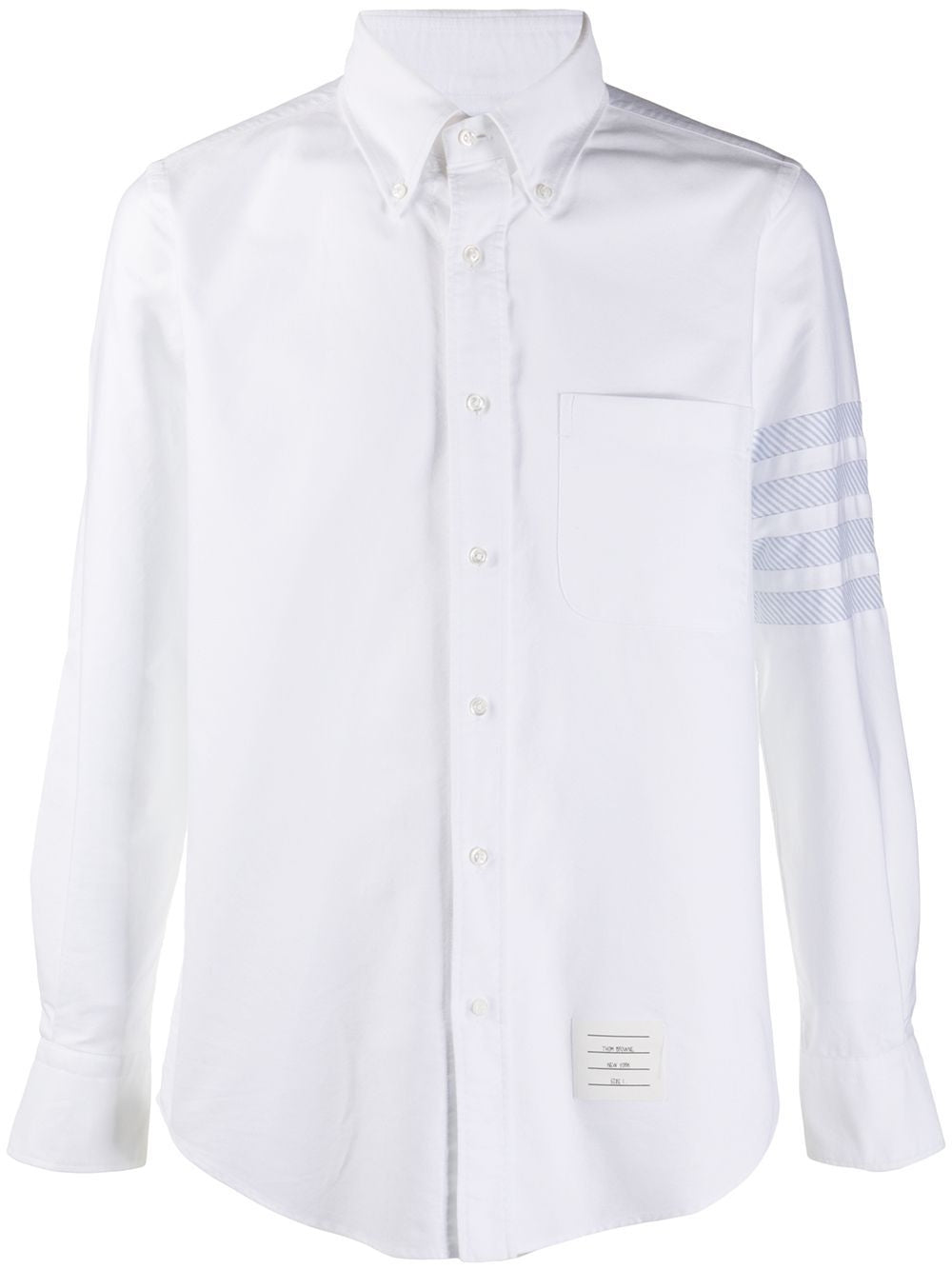 White Straight Fit Button Down Shirt