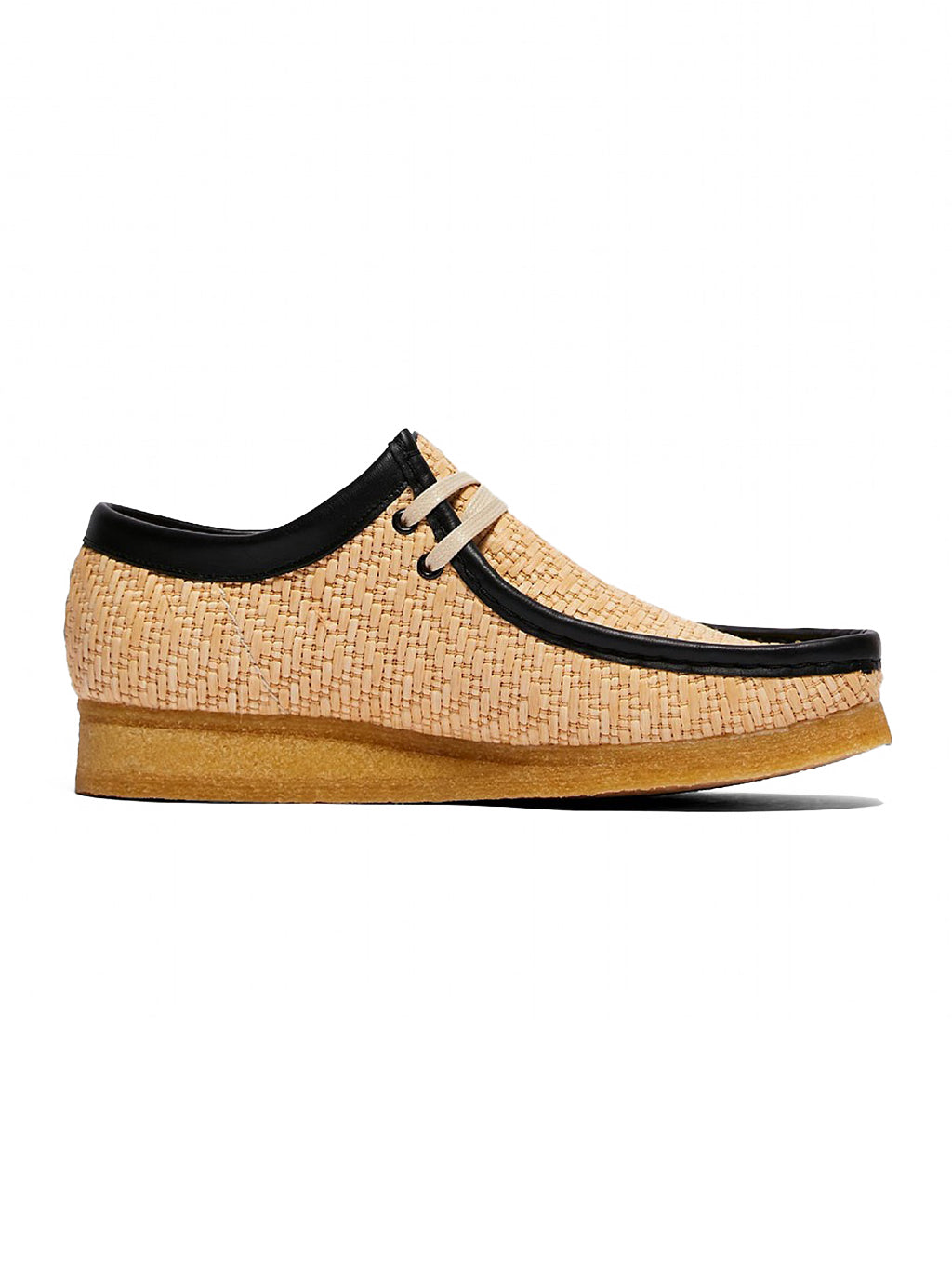 Brown & Black Raffia Wallabee Shoes