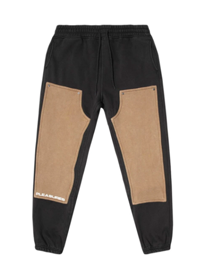 Black Burnout Dyed Sweatpants