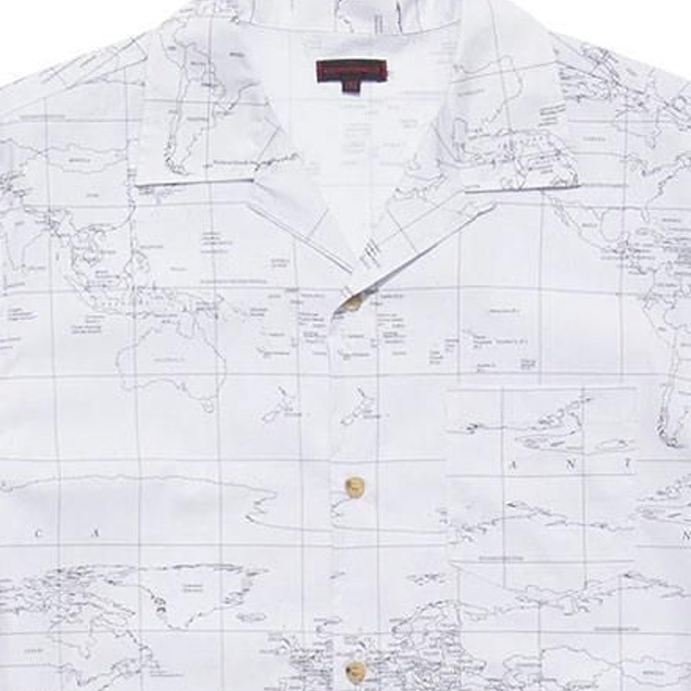 White Global Haze Short Sleeve Shirt