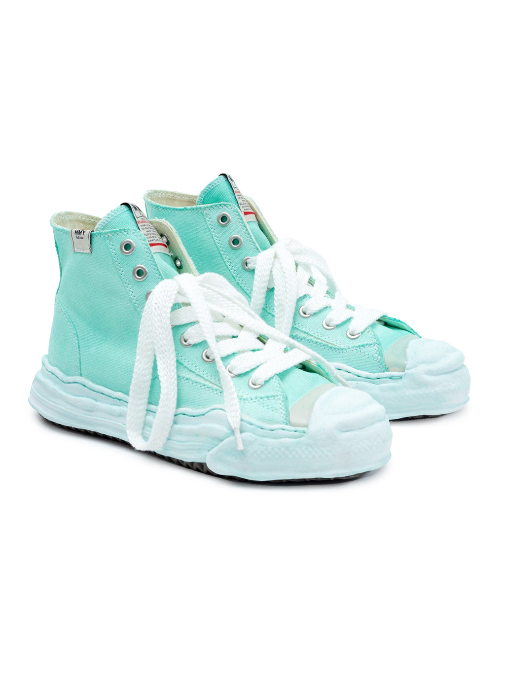 Green Original Sole Toe Cap High Top Sneaker